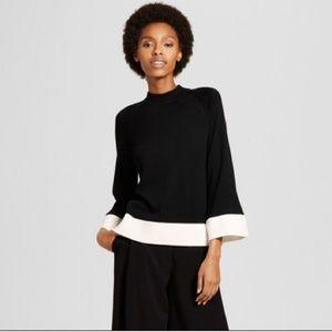 Victoria Beckham Black and Cream Knit Top